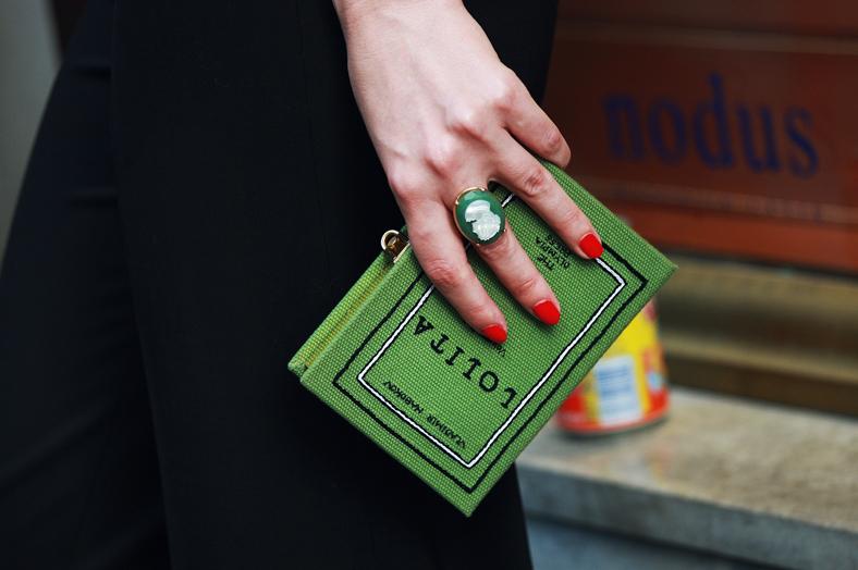 Зелёная сумка Lolita