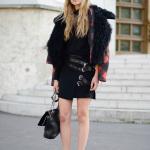 Чёрная сумка Paris Street Style