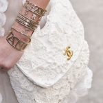 Белая сумка с кружевами Chanel (Spring 2015)