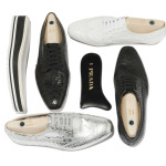 черно-белые Prada Lace-Up Shoes