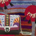 красная сумка boho-chic